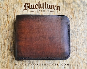 Premium Leather Bi-Fold Wallet Free Personalization Monogram or Celtic Stamp dc01424811