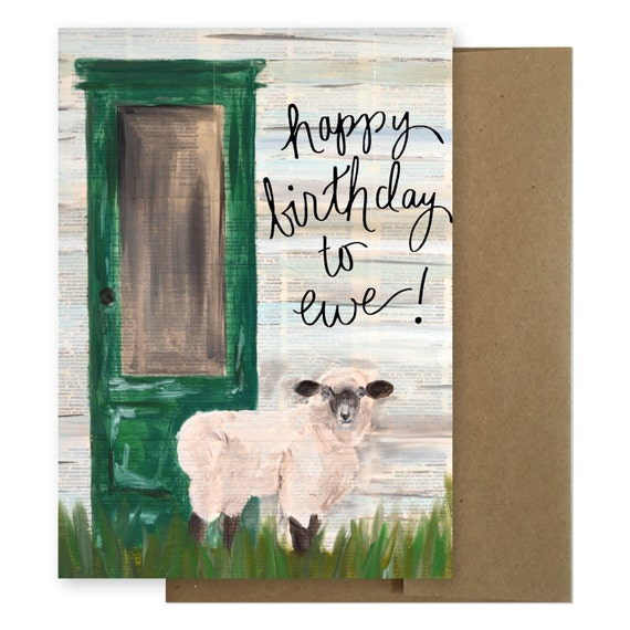 Happy Birthday To Ewe Birthday Card Birthday Card Funny Etsy
