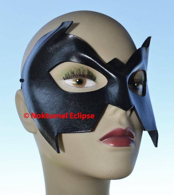 RED Robin Superhero Leather Mask Batman Batgirl Marvel Geek Halloween Costume