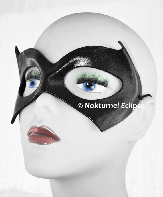 Catwoman Red Leather Mask Cosplay Halloween Harley Quinn Batman SDCC Geek Poison Ivy Gotham Masquerade Ball Available Any Basic Color