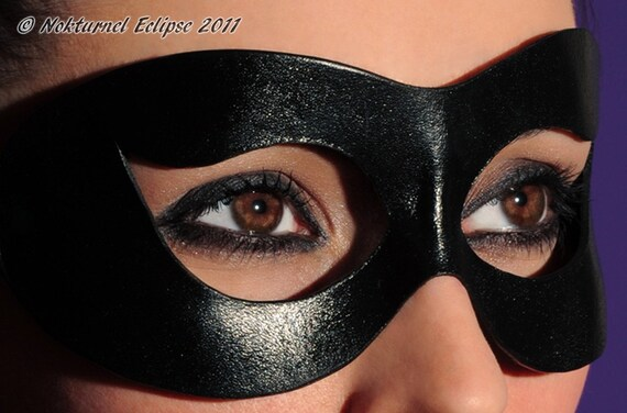 Black Leather Eye Patch Pirate Cosplay Halloween Superhero Geek Costume UNISEX