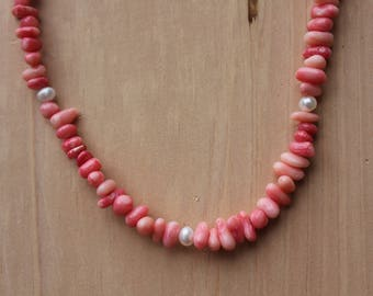Coral Necklace/Bracelet Set
