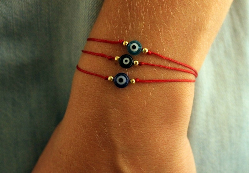 Evil eye red string bracelet Protection bracelet Unisex image 0