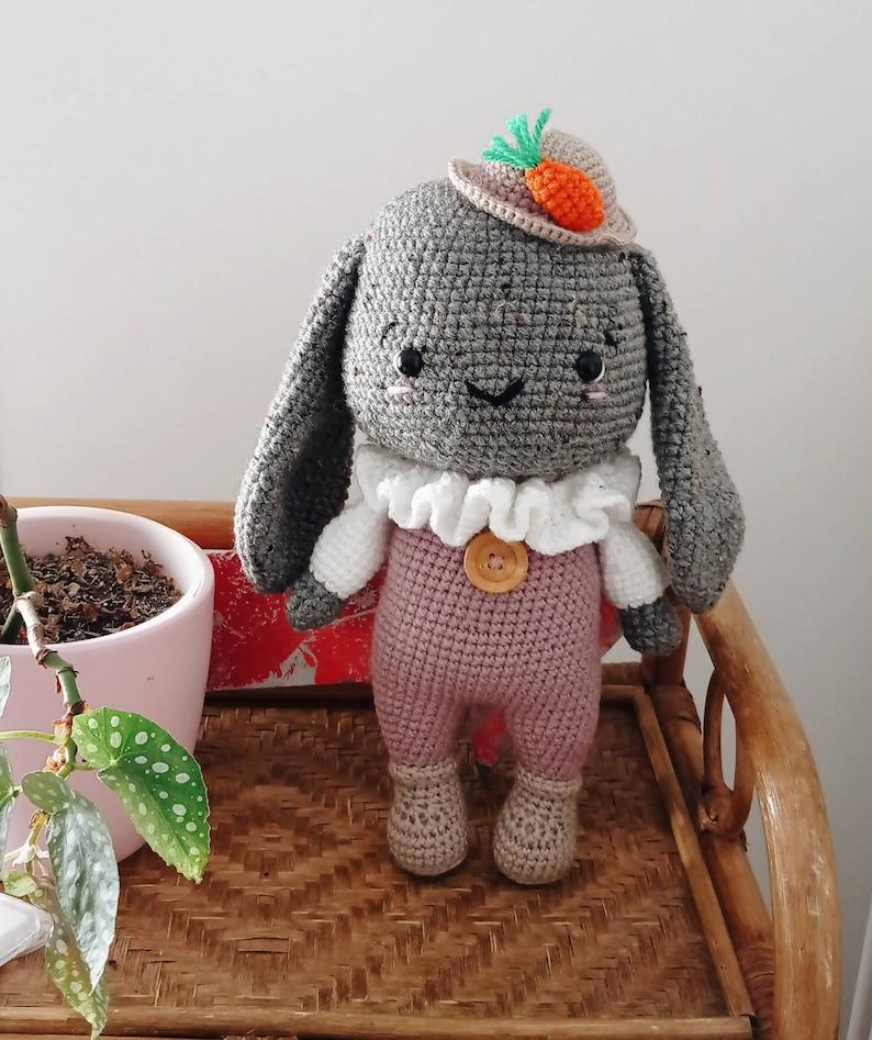 Amigurumi  crochet Sully the bunny  pattern by HUONGHOANG image 0