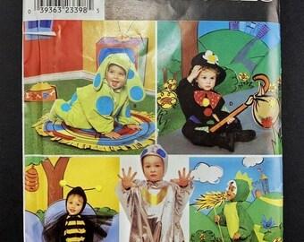 ON SALE Childrens Fantasy Costume Pattern Set I 90s Halloween Patterns I Vintage Simplicity Sewing Pattern 0684 I Uncut I Sizes 6mo-1-2-3-4