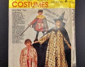 ON SALE Fantasy Halloween Costume Pattern Set I Family Costumes I 90s Halloween I Vintage Simplicity Sewing Pattern P206 I Uncut I Sizes Sm-