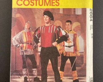 ON SALE Jester Costume Pattern I Renaissance Costume I Medieval Costume I Vintage McCalls Sewing Pattern 2664 I Uncut I Size 5 & 6