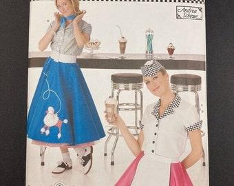 ON SALE Poodle Skirt Costume Pattern Set I Halloween Costume Pattern I Simplicity Sewing Pattern 3847 I Uncut I Sizes 6-8-10-12