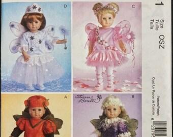 ON SALE Doll Costume Pattern Set I Doll Clothes I Princess Costume I Fairy Costume I McCalls Sewing Pattern M4741 I Uncut I One Size