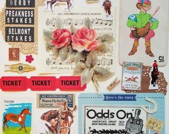 Triple Crown Vintage Ephemera Collection | 25+ pcs | Mixed Media | Collage | Scrap Pack | Inspiration Kit | Paper Crafts | Journal