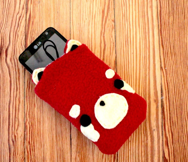 roter panda handy tasche samsung galaxy oder iphone fall etsy. Black Bedroom Furniture Sets. Home Design Ideas