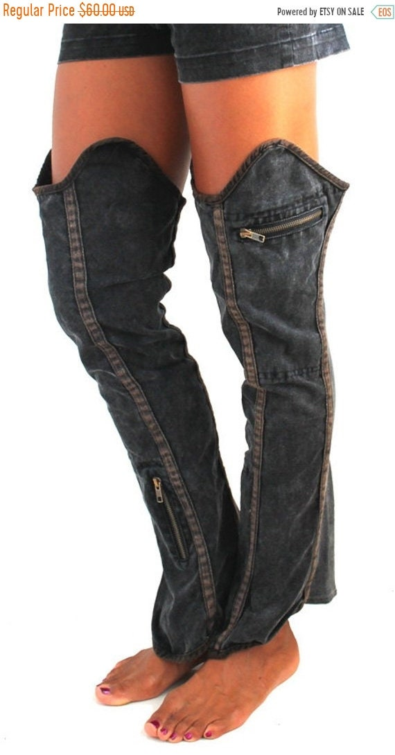 Vintage Boots- Winter Rain and Snow Boots Pocketed Boots Cover Festivals Post-Apocalyptic Burning ManMax Max Boho ClothingLeggings $48.00 AT vintagedancer.com