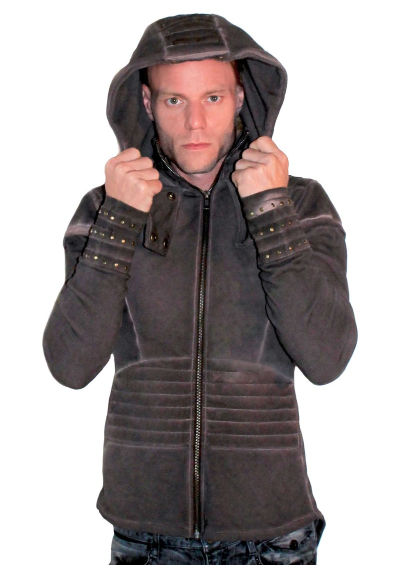 Men/'s Pixie Pleated Jacket,Post-Apocalyptic steam punk Men/'s hoodie Festival jacket Burning Man,Long Tail Jacket