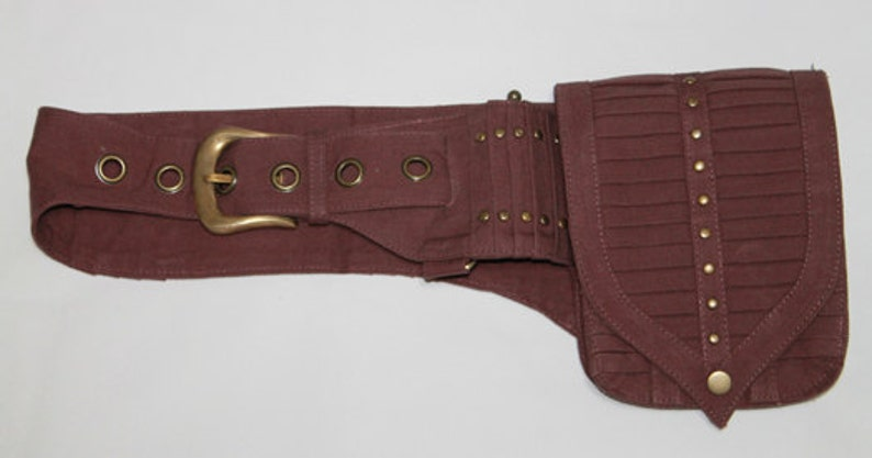 festival belt Thigh Belt Bike Babes Burning Man Mad Max Single Pocket Belt Post-Apocalyptic Utility Belt Canvas pocket belt Boho