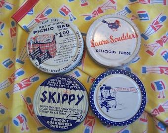 wonderful vintage jar lids