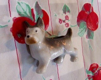 sweet little doggy tiny planter figurine