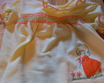 sweetest little yellow smocked top or dress