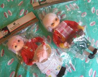 santa's world vintage doll ornaments