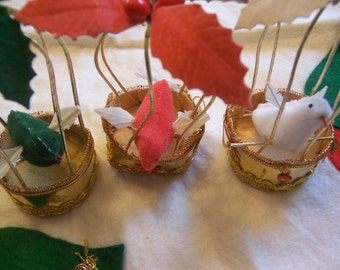 little wire bird cages ornaments