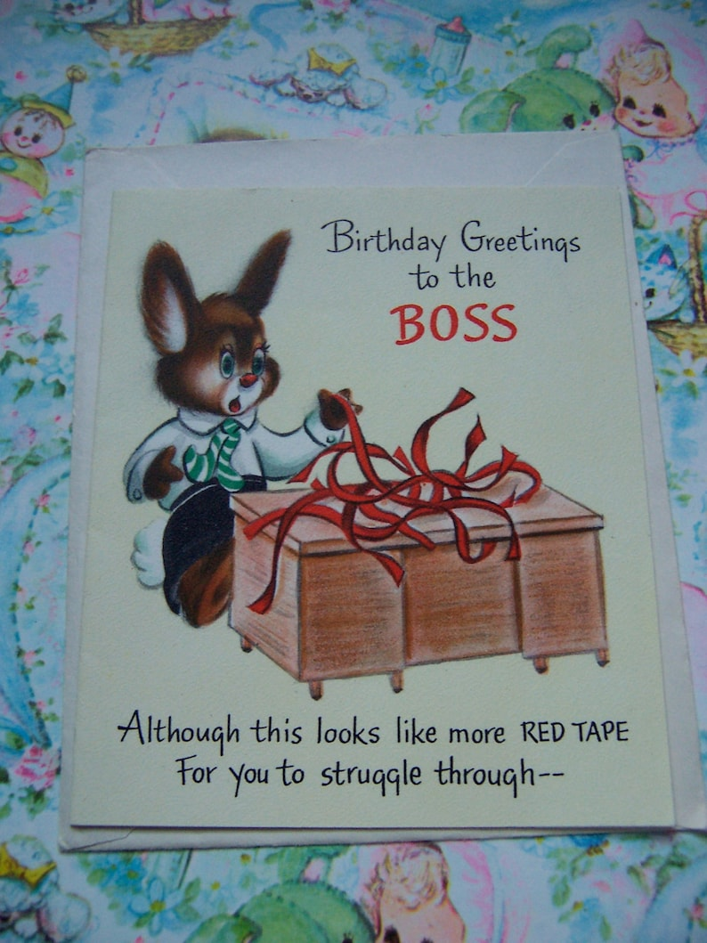 birthday greeting to the boss card
