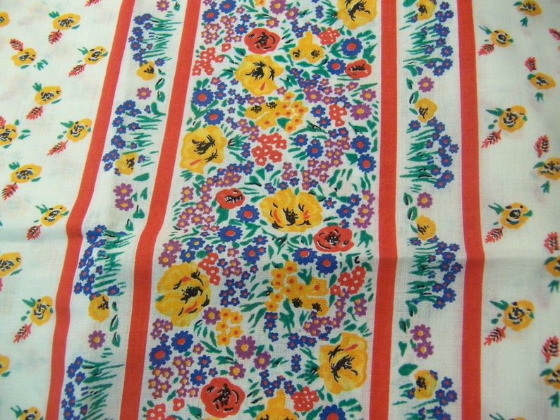 borders with flowers fabric