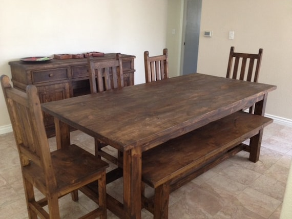 Aged Wood Dining Table Etsy - Aged wood dining table