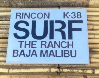 Surf Wood Sign