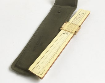 "World War II Felsenthal Graphical Site Table - M1 8"" Howitzer Artillery Range Calculator, Slide Rule with Canvas Case"