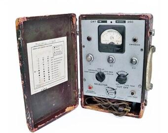 1950s Portable Tube Tester, Cathode Rejuvenator Tester Model 350, Electronic Gadget