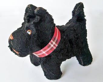 1930s-40s Stuffed Scottie Dog - Plush Toy - Stuffed Animal