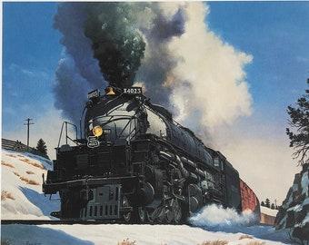 "Howard Fogg Railroad Lithograph Print - 23"" X 18"" Art Print - Train & Locomotive Painting, Railroad Art, Railroadiana, Train Lover Gift"