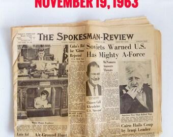 Original President Kennedy Assassination Newspaper from November 1963 - Spokane, WA Newspaper