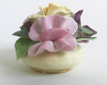 Mid Century Royal Adderley Floral Bone China Flower Bowl, Knick Knack