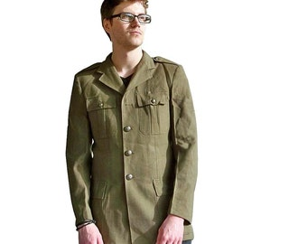 Vintage Army Surplus Dress Uniform Jacket - Military Style - FREE USA SHIPPING