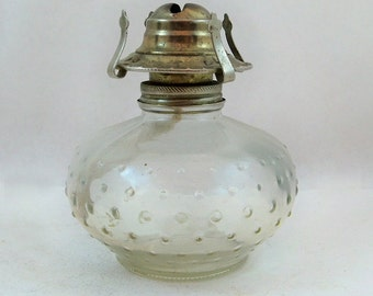 Vintage Lamplight Farms Hobnail Glass Oil Lamp - Lantern