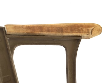 Early 20th Century Theater Seat Wood Armrest - Used Replacement Armrest - Salvaged Wooden Armrest