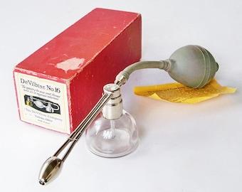 Early 20th Century DeVilbiss No. 16 Medical Atomizer - Throat Sprayer - Nose Sprayer - Medical Instrument