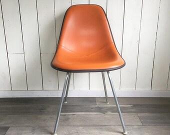 "1970s Herman Miller Eames Chair - Mod Orange Upholstered Fiberglass ""Mid Century Modern Classic"""