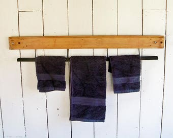 Antique Paper Roll Cutting Bar Ready for Upcycle as Towel Rack - Turn of the Century Machinery