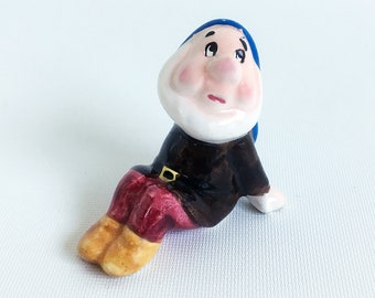 "1960s Walt Disney Production Ceramic ""Sleepy"" Figurine - Snow White and Seven Dwarfs"