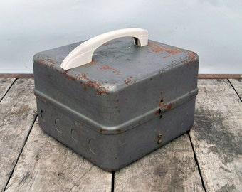 Vintage Upcycled Electrical Breaker Box Turned Industrial Toolbox - Storage Box - Utility Box