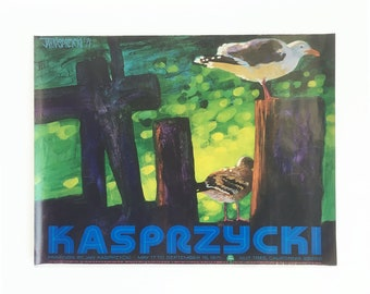1971 Jan Kasprzycki Painting Print - Poster - Limited Edition Gallery Show Poster Printed by The Nut Tree in California