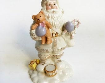 Vintage Lenox Porcelain Santa Claus Figurine, Christmas Collectable FREE USA SHIPPING