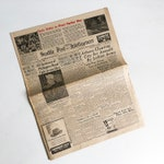 """Old Newspaper from December 7, 1944 - Seattle Post Intelligencer - WWII News """"Free USA Shipping"""""""