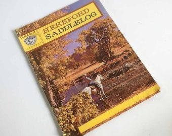 1962 Hereford Saddlelog, Horse Saddle & Tack Catalog, Western Gear - Cowboy or Horse Lover Gift