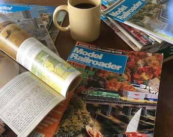 1980s-90s Model Railroader Magazine Bundle - 12 Months - Back Issues, How to Model Railroading Magazine, Toy Trains, Railroadiana
