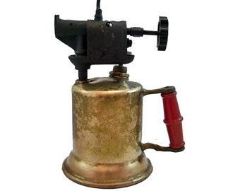 """Turner Brass Blowtorch """"Cool Industrial Piece with Nice Patina"""""""