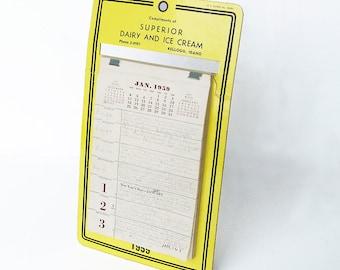1950s Calendar with Teenage Girl's Diary - Daily Journal