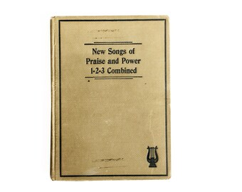"1920s ""New Songs of Praise and Power 1-2-3 Combined"" Hymnal, Church Hymn Book, Songbook from Mission Covenant Church, Minneapolis"