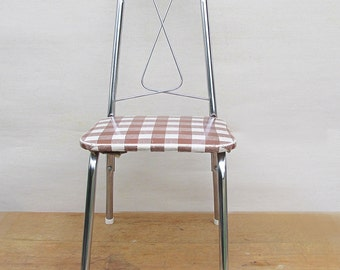 Mid Century Chrome and Vinyl Child Size Chair